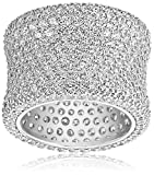 Charles Winston, Sterling Silver, Cubic Zirconia Bold Pave  Band, 9.00 ct. tw., Size 7