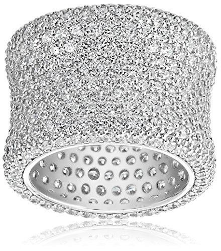 Charles Winston, Sterling Silver, Cubic Zirconia Bold Pave  Band, 9.00 ct. tw., Size 7 by Charles Winston