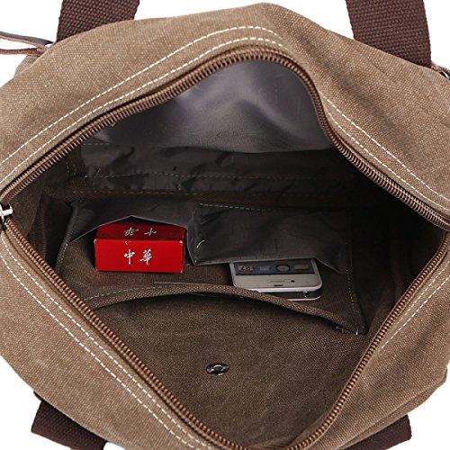 Männer Vintage-Leinwand Messenger Ipad Schulter Tote Schulranzen Outdoor Tasche,A-28cm*11cm*33cm