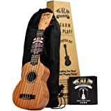 Official Kala Learn to Play Ukulele Soprano Starter Kit, Satin Mahogany – Includes online lessons, tuner app, and…