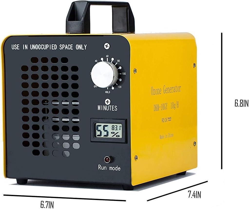 Yousiliang Generador de ozono Comercial, eliminador de olores, purificador de Aire de ozono Industrial, 10.000 MG/h ...