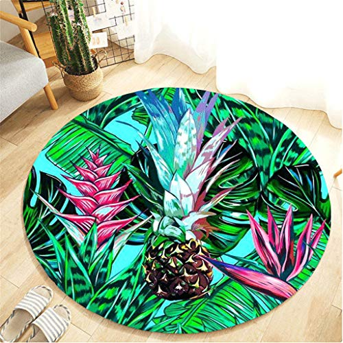Nivalkid Botany Elements Blanket Round Bathroom Carpet,Plant Gardening Comfortable Flannel Children Play Princess Room Decor Rug Coffee Table Lovely Bed Front Floor Home Carpet60CM from Nivalkid