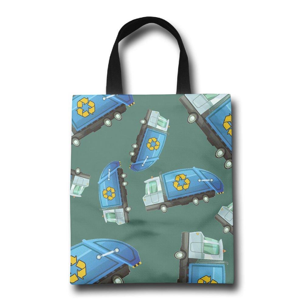 26828d710c hot sale 2017 Cartoon Garbage Truck Women Reusable Shopping Bag Cute  Portable Gym