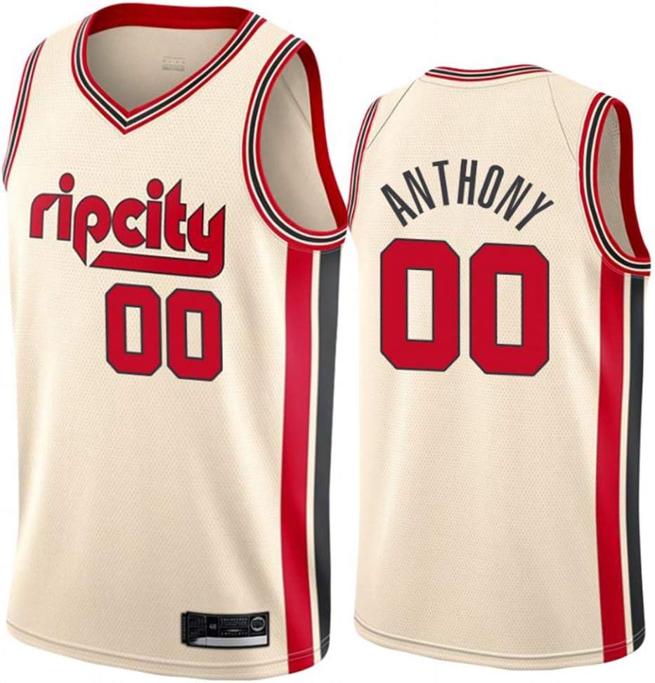 Herren Frau Portland Trail Blazers 00# Anthony Jerseys Basketballhemd Atmungsaktiv Mesh Trikots Basketballuniform Stickerei Tops Basketball Anzug