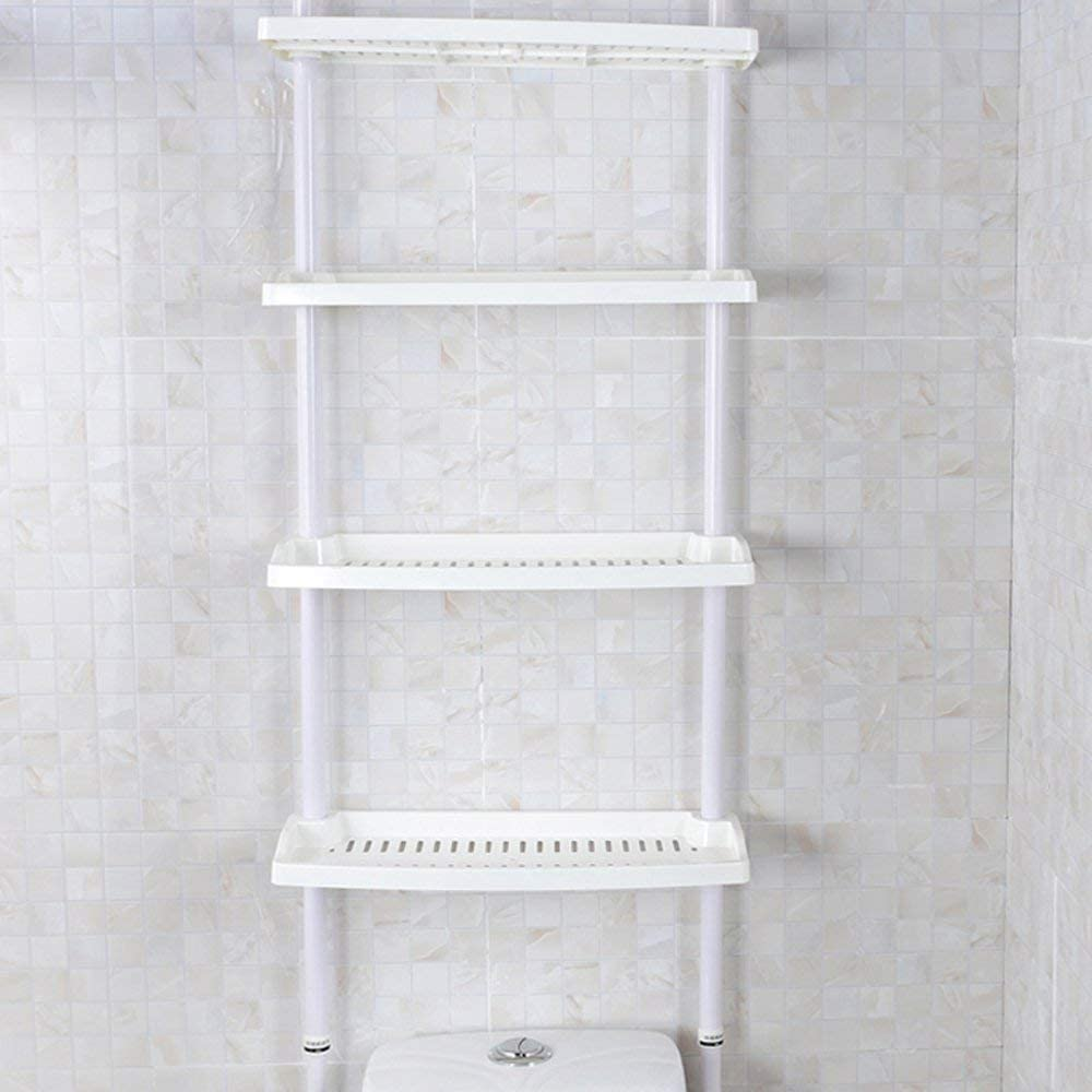 Keraiz® New 1859 4 Tier Kitchen Bathroom Storage Shower Caddy Shelf Shelves Adjustable Height