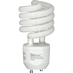 MaxLite MLS26GUWW6 GU24 Base Compact Fluorescent Light Bulb, 26-watt