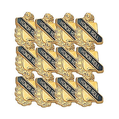 Honor Roll Lapel Pin - 5/8 Inch Honor Roll Lapel Pin - Package of 12, Poly Bagged