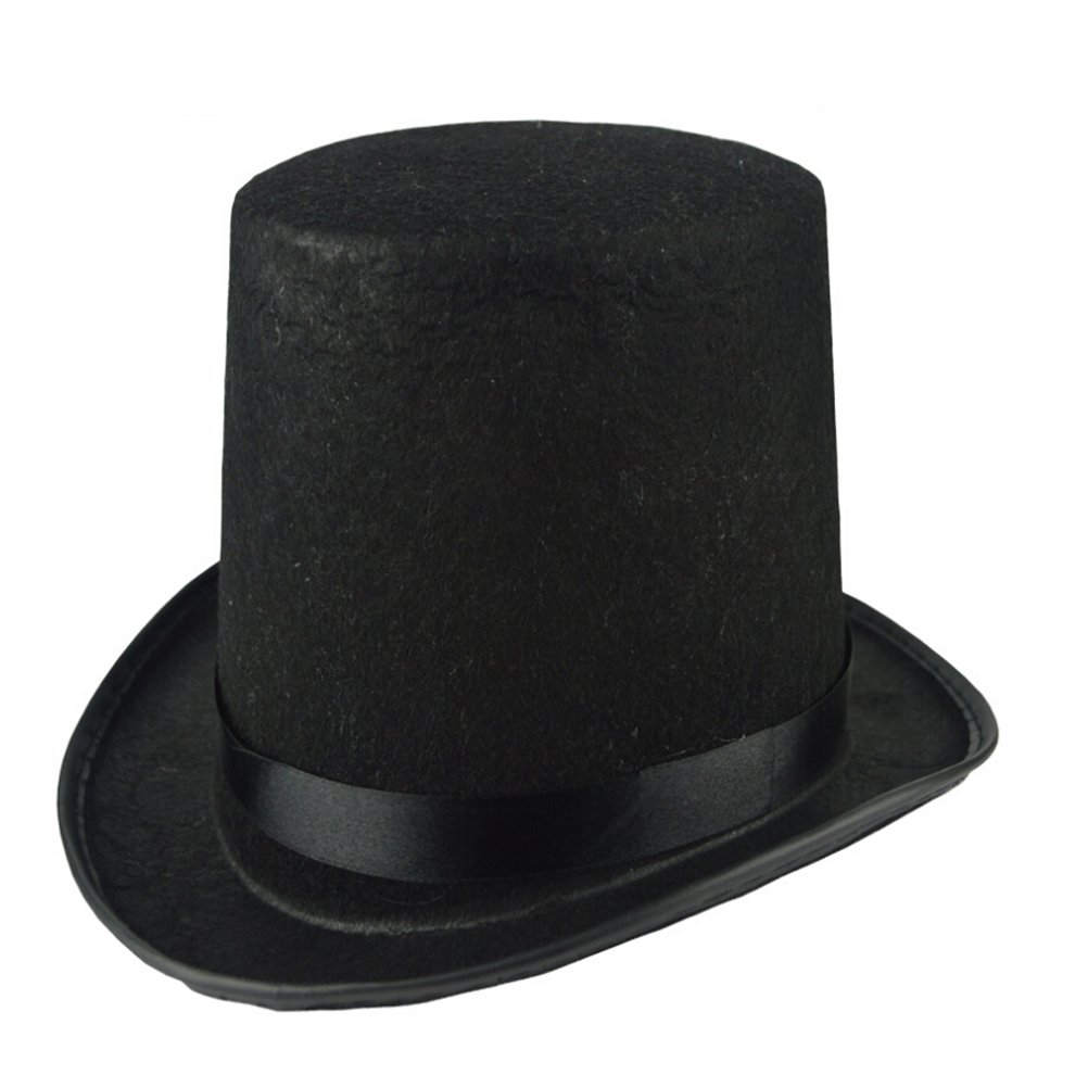 6cb0df9e53c6a Buy Amosfun Black Bowler Hat Magician s Hat Dress up Costume Accessory for  Men Adult Fancy Dress Party Halloween Costumes Online at Low Prices in India  ...