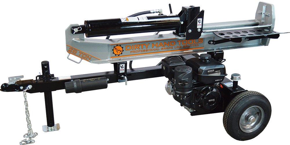 Dirty Hand Tools 100342 28 Ton Horizontal/Vertical Gas Log Splitter, 277cc Kohler CH395 Engine