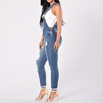 Ladies Womens Regular Fit Fades Denim Dungaree Jumpsuit UK Size 8-16