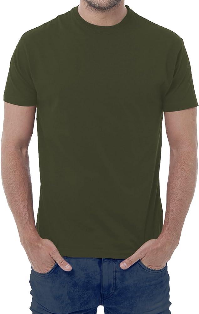 Fermento Italia - Camiseta - Manga Corta - para Hombre Verde Verde Militar 42/44 EU Small: Amazon.es: Ropa y accesorios