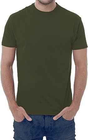 Fermento Italia - Camiseta - Manga Corta - para Hombre Verde Verde Militar 44/46 EU M: Amazon.es: Ropa y accesorios