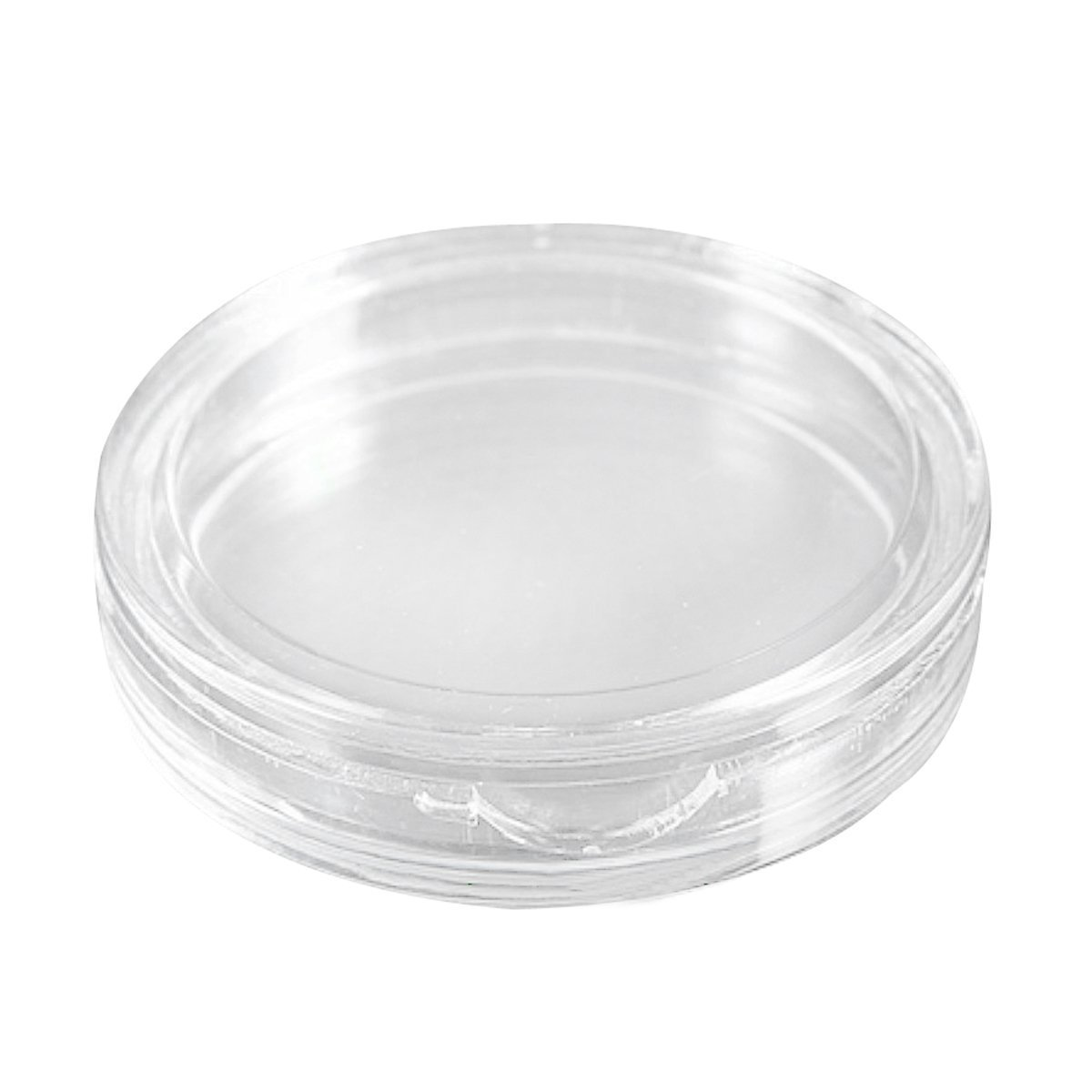 SODIAL(R) 10 pcs Small round transparent plastic coin capsules box 21mm