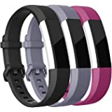 Mornex Strap Compatible Fitbit Alta HR and Alta Strap, Soft Adjustable Replacement Band Accessory with Secure Watch Clasps