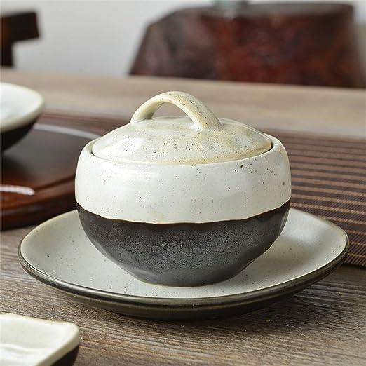 ZHA JIAN Pequeño cerámica Sopa de Fideos Pasta Bowl con Tapa ...