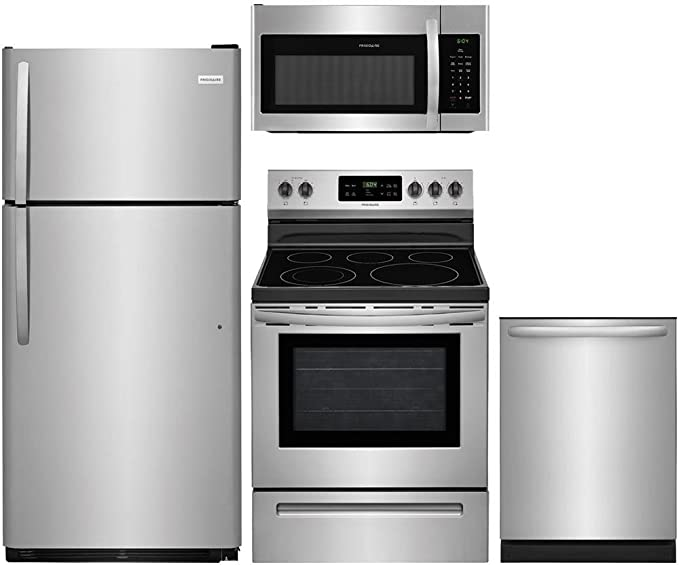 Amazon.com: Frigidaire 4-Piece Paquete de acero inoxidable ...
