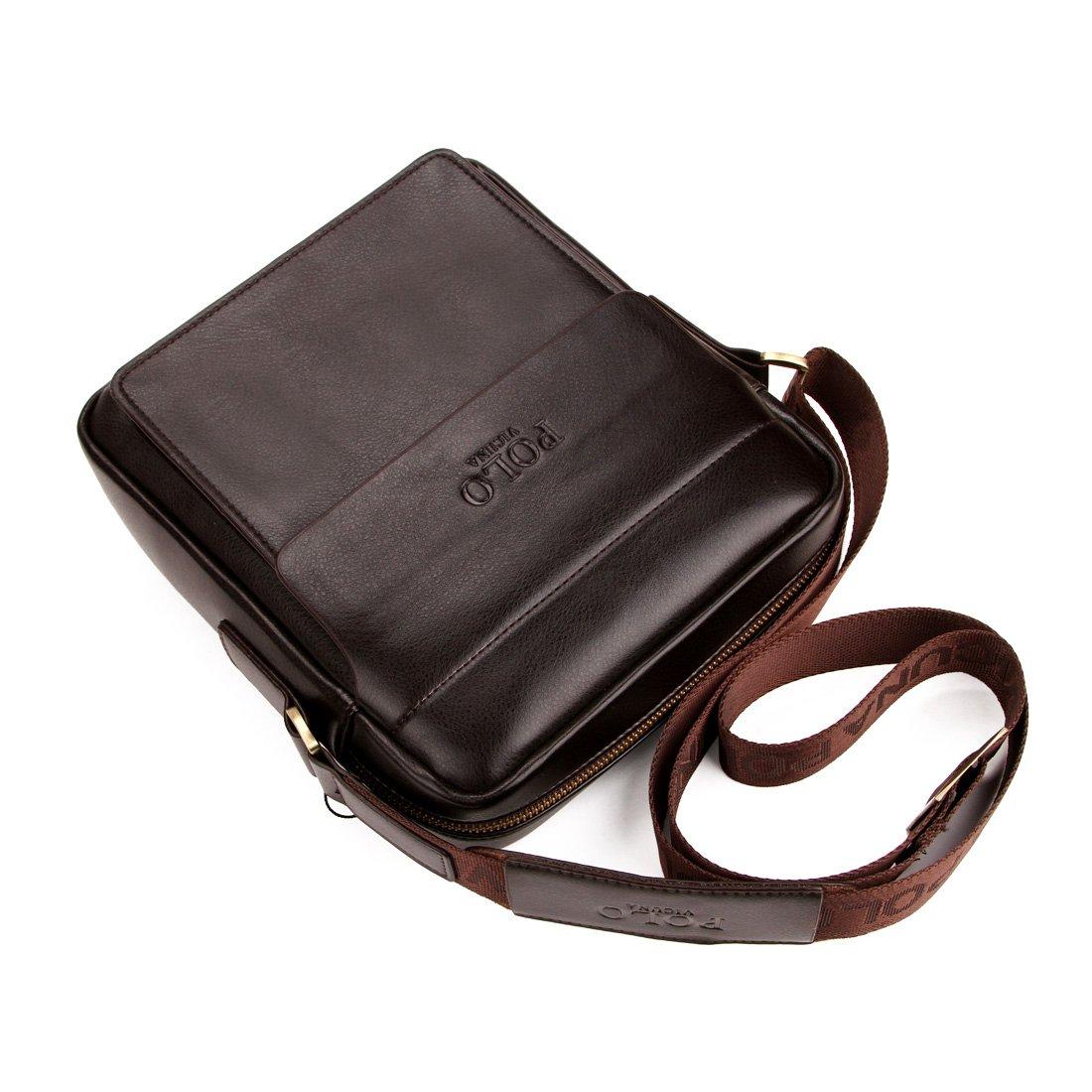 VICUNA POLO - Bolso bandolera marrón marrón 8.26*9.44*2.75inch ...