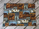 quilted table placemats - Brown Cabin Life Quilted Fabric Placemats set of 8