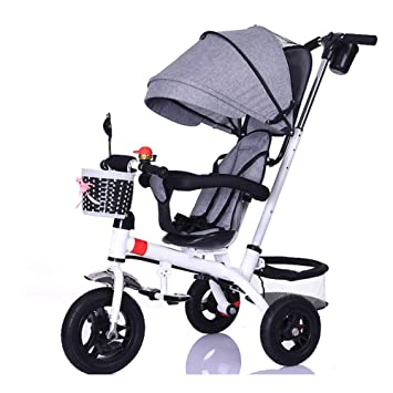 JYY Bicicleta De Paseo Triciclo Infantil Trike De 3 Ruedas para Niños Cochecito 4 En 1 para Niños De 6 Meses A 6 Años,F: Amazon.es: Hogar