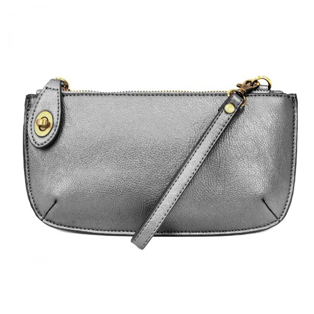 Mini Crossbody Wristlet Clutch (METALLIC PEWTER)