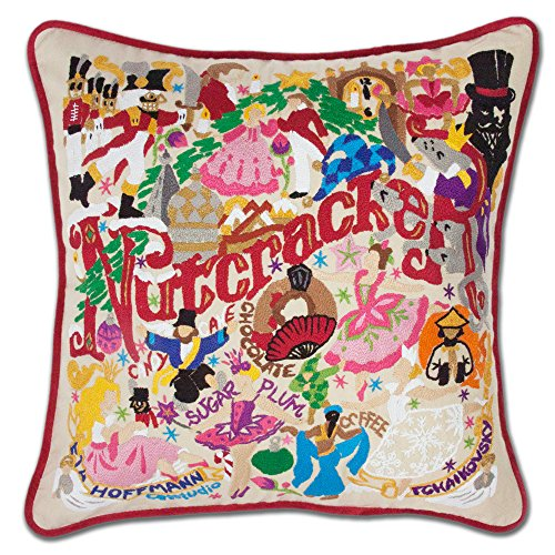 NUTCRACKER HAND EMBROIDERED PILLOW - CATSTUDIO