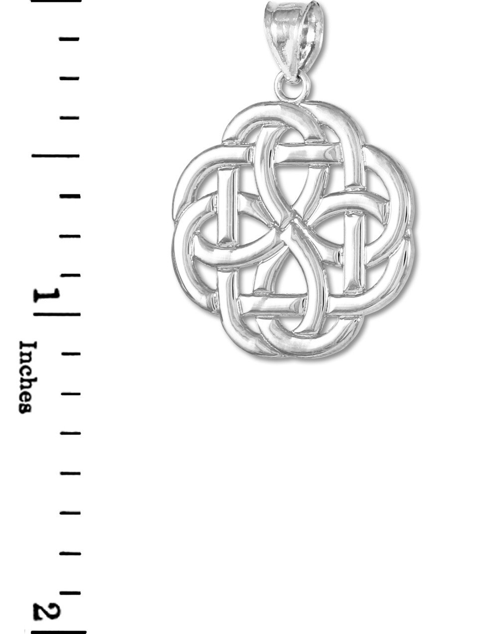 14k White Gold Triquetra Celtic Trinity Pendant by Unknown (Image #2)
