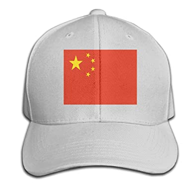 36fdf36a2d22f Chinese Flag Adult Unisex Baseball Snapback Hat Peaked Cap Casquette for  Men and Women