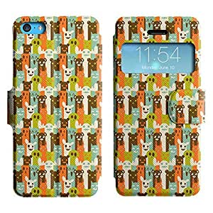 Be-Star Colorful Printed Design Slim PU Leather View Window Stand Flip Cover Case For Apple iPhone 5c ( Cute Characters ) Kimberly Kurzendoerfer