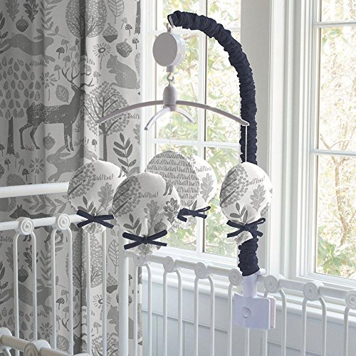 Carousel Designs Navy and Gray Woodland Mobile by Carousel Designs