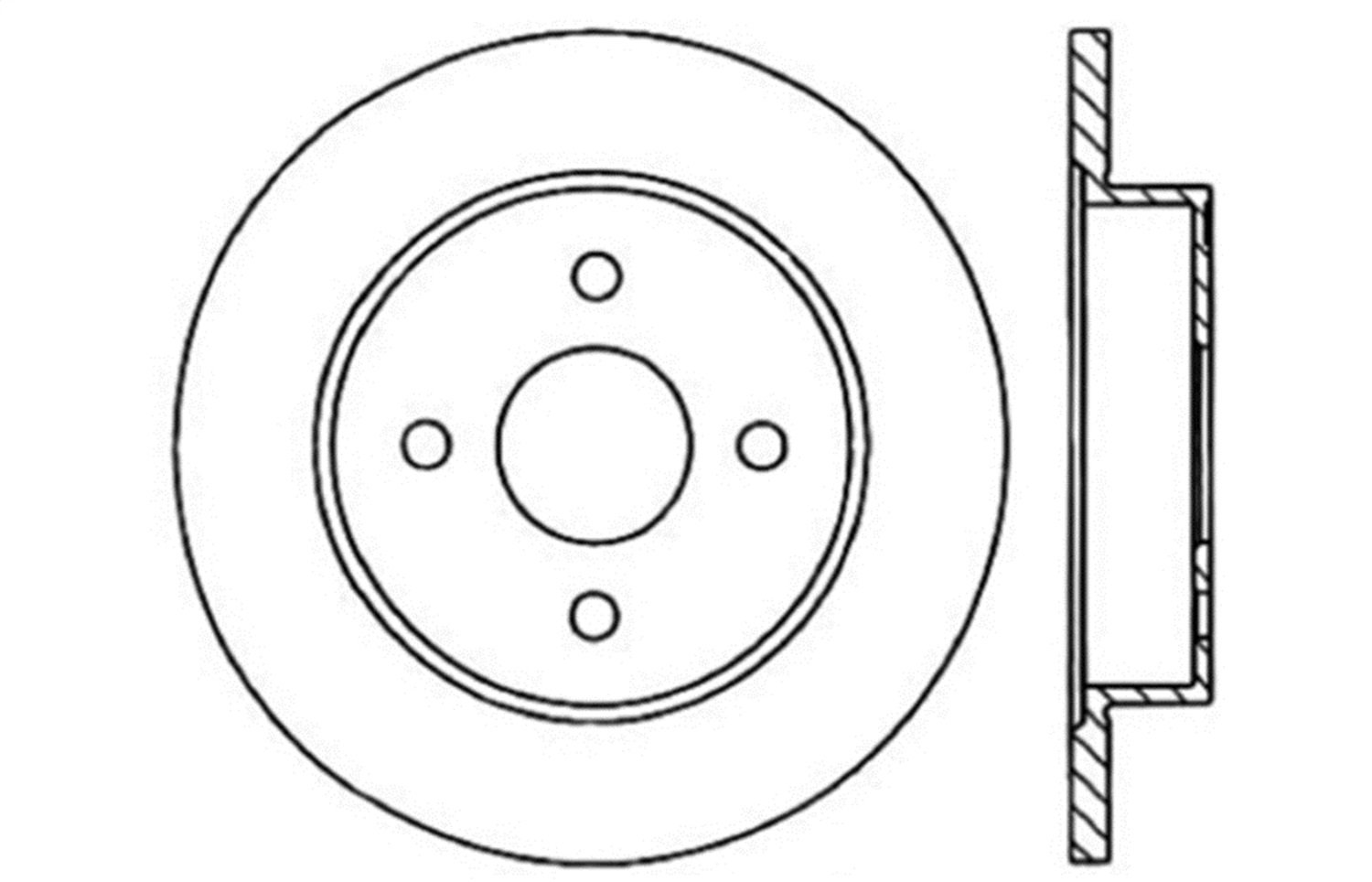1 Pack Rear Right StopTech 127.62037R Sport Drilled//Slotted Brake Rotor