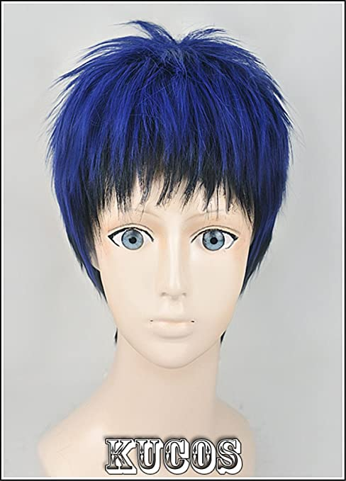 LanTing Cosplay Peluca Kuroko no Basuke Aomine Daiki Blue Mix Cosplay Party Fashion Anime Human Costume