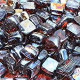 Stanbroil 10-Pound 1-Inch Fire Glass Cubes for Fireplace Fire...