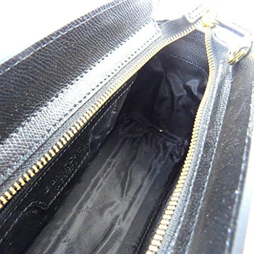 """Gianni Conti [N8039] - Sac cuir """"Gianni Conti"""" noir - 28x17x7 cm"""