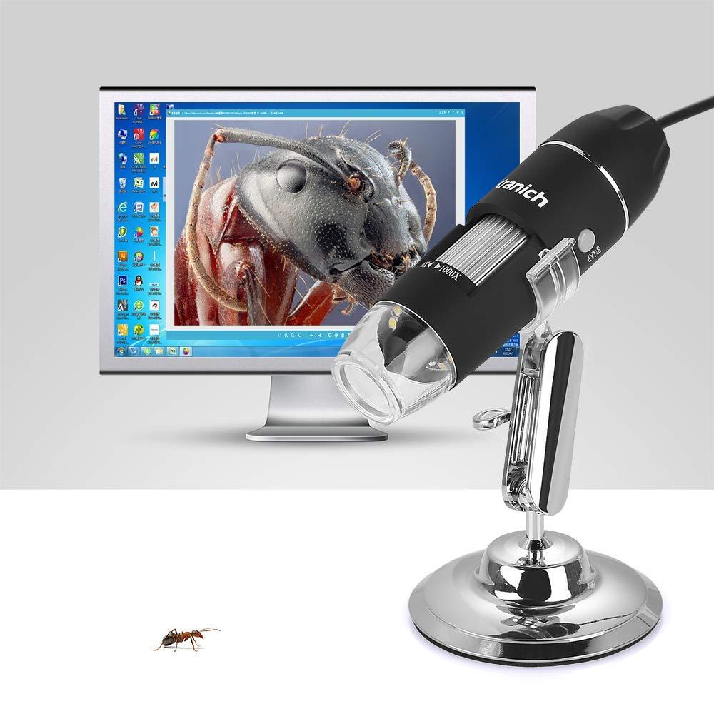Mac Kranich Digital Microscopio USB portatil 1000 x 2 MP WiFi endoscopio para iPhone iOS Android iPad Windows