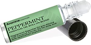 Peppermint Essential Oil Roll On, Pre-Diluted 10ml (1/3 fl oz)