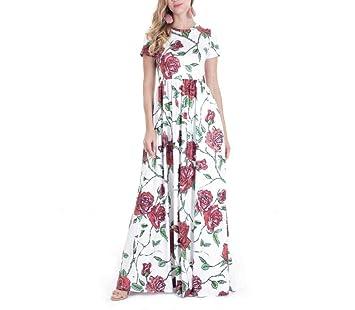 MTG@N Ropa de Mujer Impresión Vestir Uno,Falda Falda Larga Vestido ...