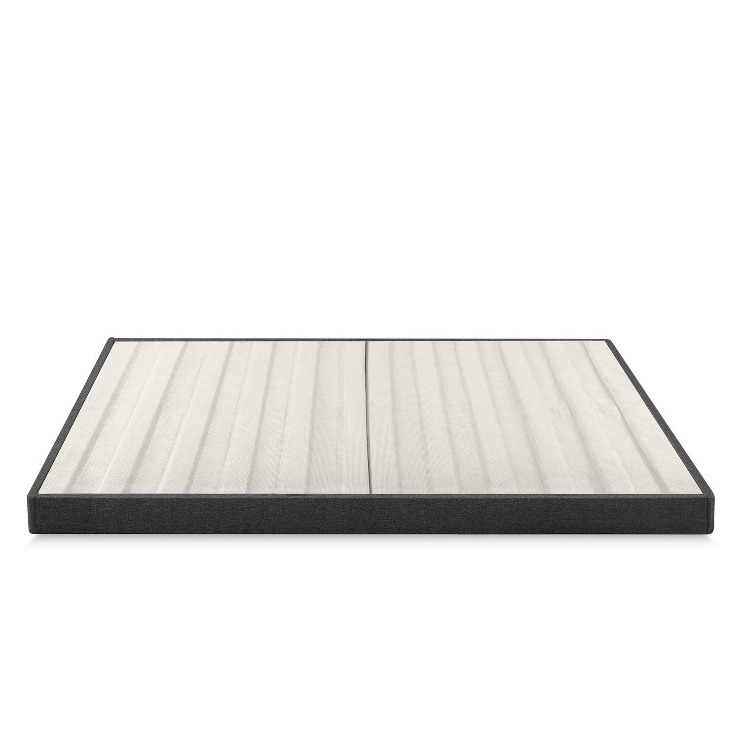 Zinus Daniel 4 Inch Essential Box Spring / Mattress Foundation / Easy Assembly Required, Queen (Renewed) by Zinus