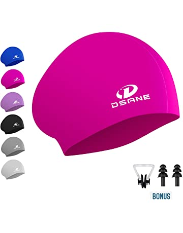 c7a39f0ca Womens Silicone Swim Cap for Long Hair,3D Ergonomic Design Silicone  Swimming Caps for Women