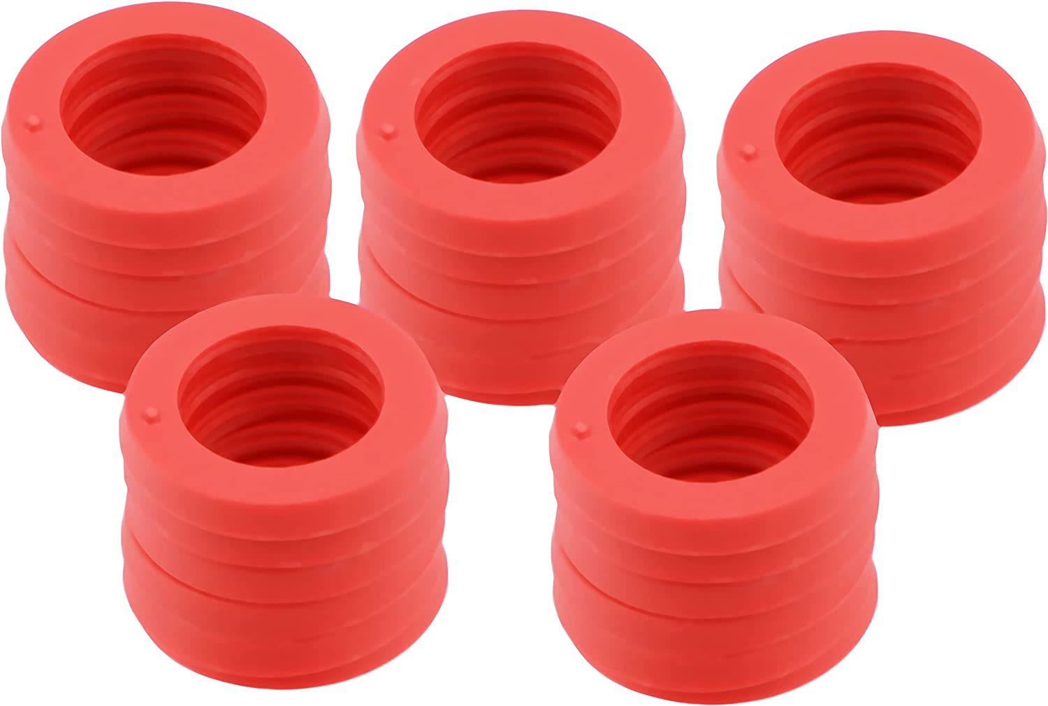 LUTER 30 Packs 3/4 Inch Garden Hose Washers O-Ring Rubber Washers Rubber Washer Seals for Garden Hose Fittings, Water Faucet, Spray Nozzle, Hose Splitter (Red)