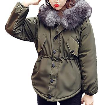 Kimloog Abrigo de invierno de piel sintética con capucha y cierre de cremallera para mujer, abrigos gruesos y cálidos: Amazon.es: Bricolaje y herramientas