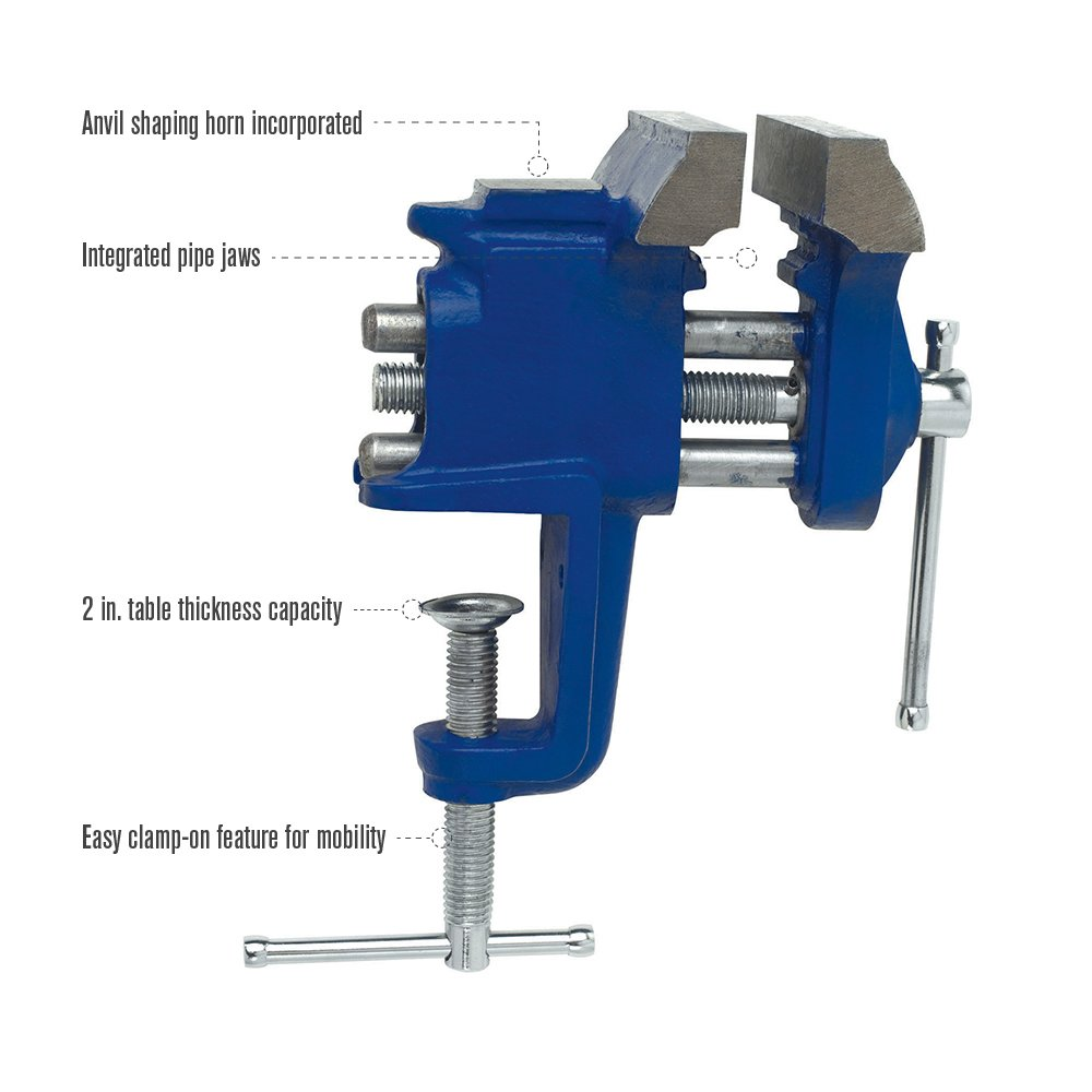 Irwin Tools Clamp-On Vise, 3'', 226303 by Irwin Tools (Image #3)