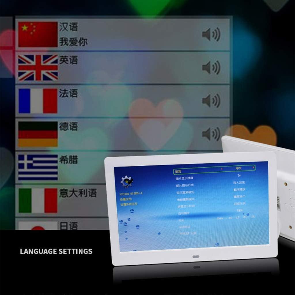 USB SD Slot Remote Control Digital Photo Frame 7//8//10 inch 720P // 1080P Video Player//Calendar//e-Book 1280 x 800 HD Electronic Photo Frame
