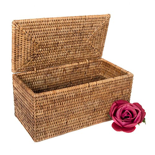 Artifacts Rattan Double Tissue Box Holder with Lid
