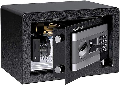 SLYPNOS Digital Electronic Safe Box Keypad Key Lock Security Home Office Hotel