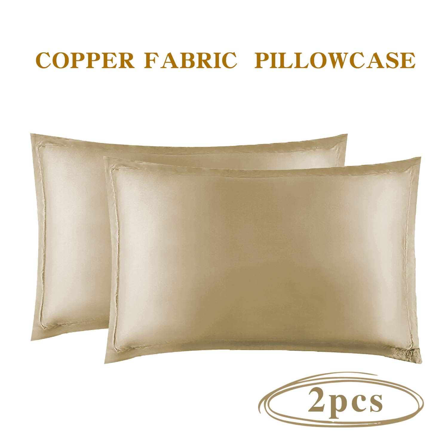 Anti Wrinkl Anti-Aging Pillowcase with Copper Oxide Fiber for Skin Rejuvenating