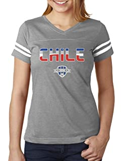 TeeStars - Chile National Soccer Team 2016 Fans Women Football Jersey T-Shirt