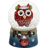 Dekohelden24 Original–Bola de Nieve con Divertido búho tamaño