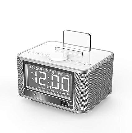 HURONG168 Despertador silencioso Altavoz Bluetooth ...