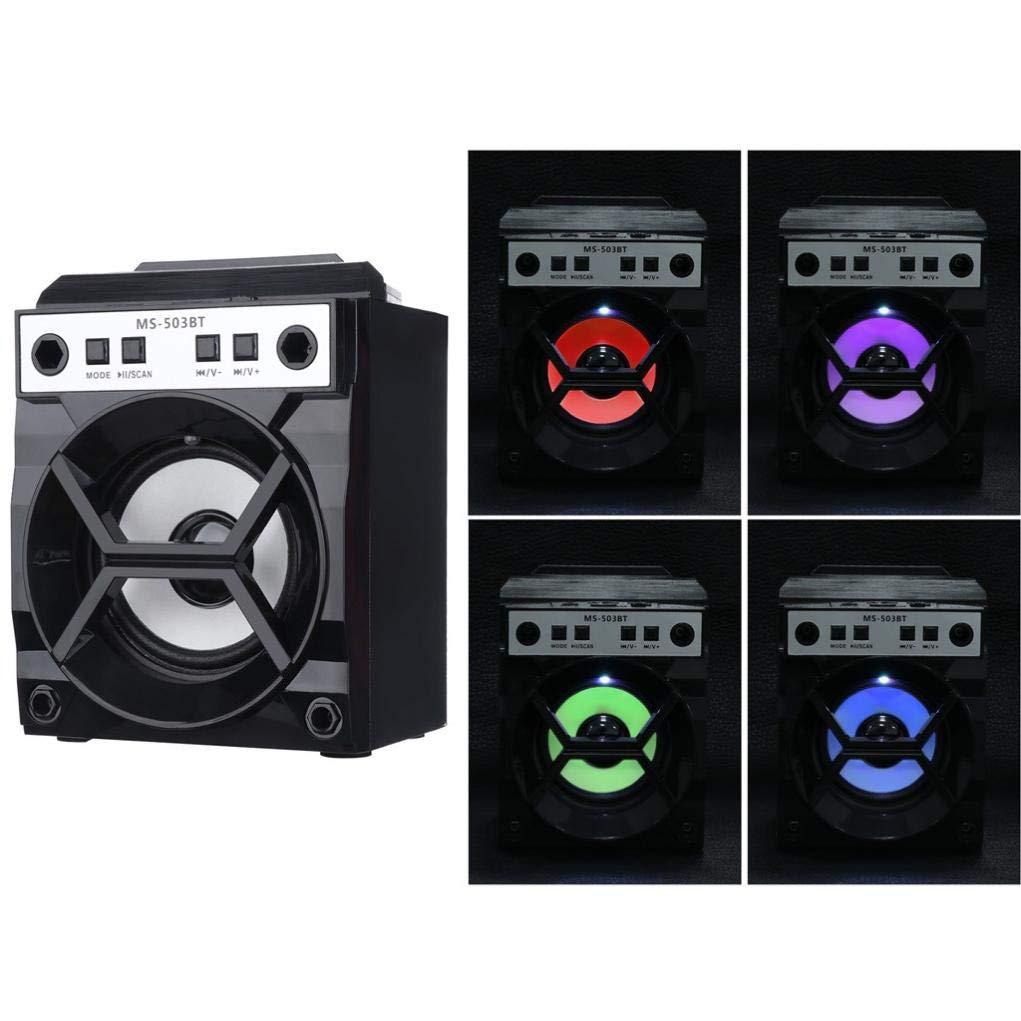 BT ワイヤレススピーカー - Paus====ポータブルアウトドアスーパーバス FMラジオ MP3プレーヤー USB/TF/AUX - HDサウンドと高精細オーディオ付き ビーチ、シャワー、ホーム用 B07G992Y13