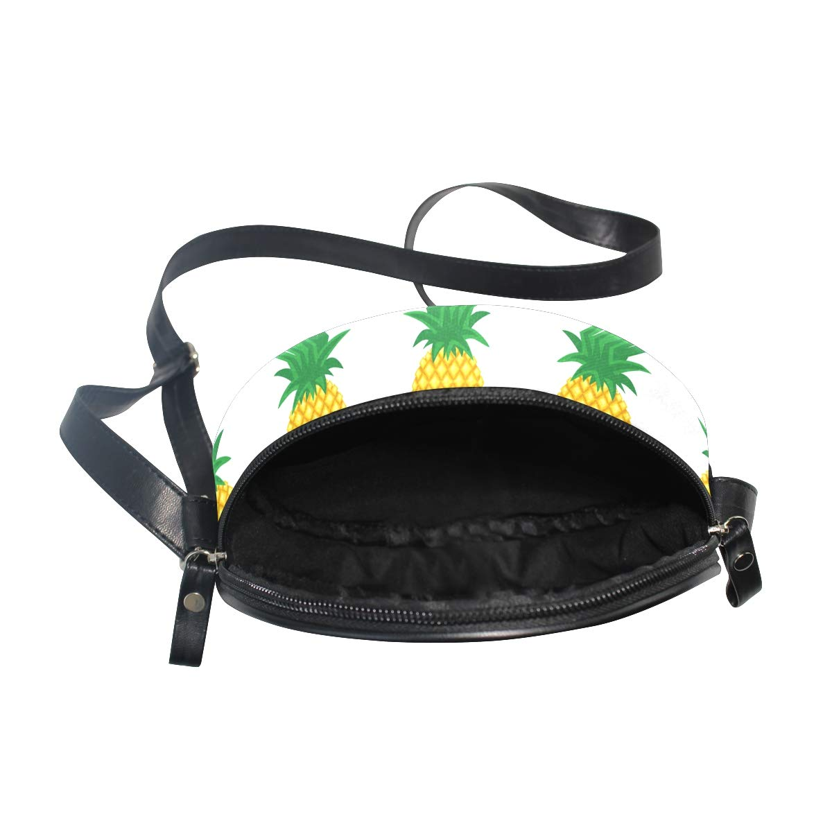 KEAKIA Smiling Sleeping Pineapples Round Crossbody Bag Shoulder Sling Bag Handbag Purse Satchel Shoulder Bag for Kids Women